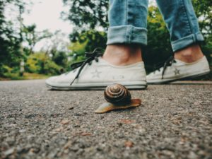 Ich bin langsamer als alle anderen